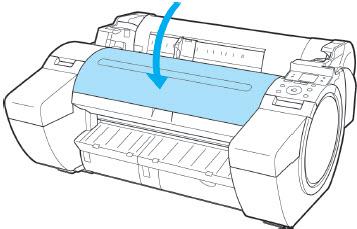 Close the printer's top cover.