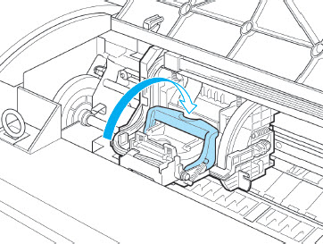 Push the printhead fixer lever toward the backof the printer until it clicks.