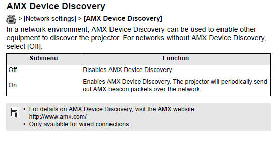 canon knowledge base amx device discovery