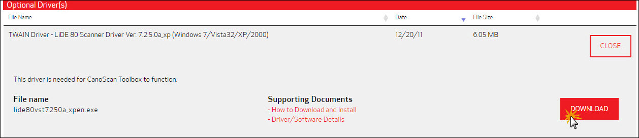 How to install and configure canon scangear tool software.
