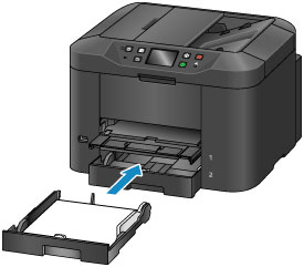 Insert the cassette into the printer until it stops