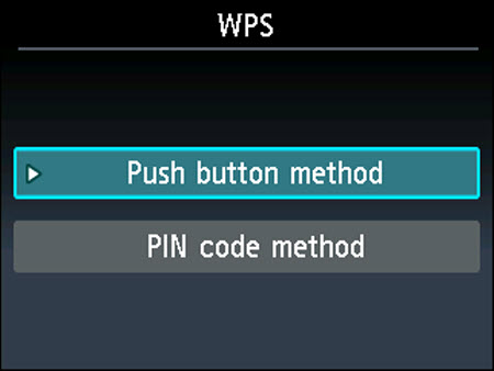 Push button method is selected