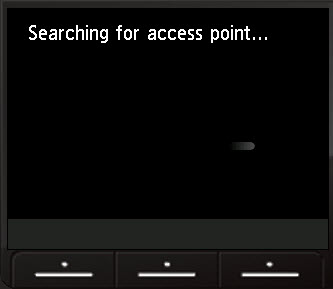 searching for access point screen