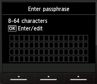 Enter passphrase screen with OK selected