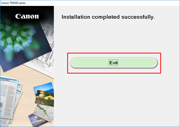 Image of Installation completed successfully screen
