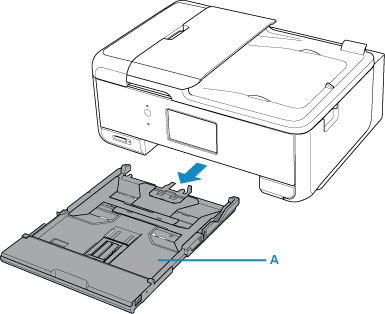 Pull the cassette (A) out of the printer