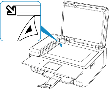Figure: Loading the print head alignment sheet on the scanner glass