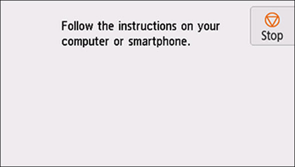 Follow the instructions on the computer or smartphone, etc. to perform the operation