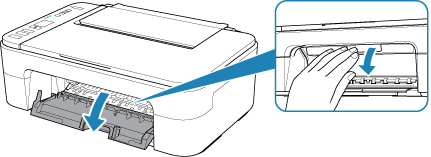 Image of printer showing how to lift the printer cover
