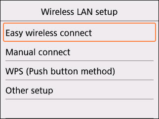 Easy Wireless connect selected
