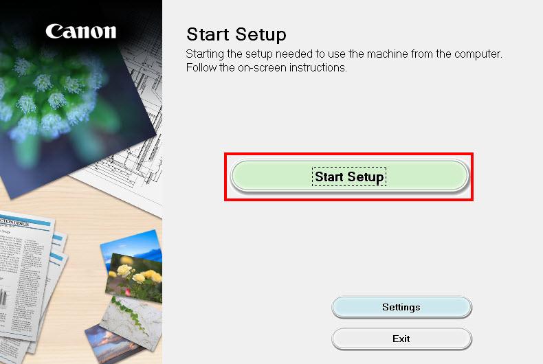 Select Start Setup.