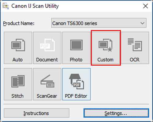 figure: IJ Scan Utility