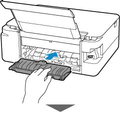 Insert the transport unit cover slowly all the way into printer