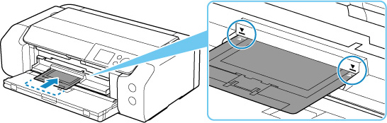 Don't insert the multi-purpose tray beyond the arrow on the multi-purpose tray guide