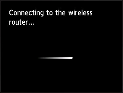 Connecting to the wireless router...