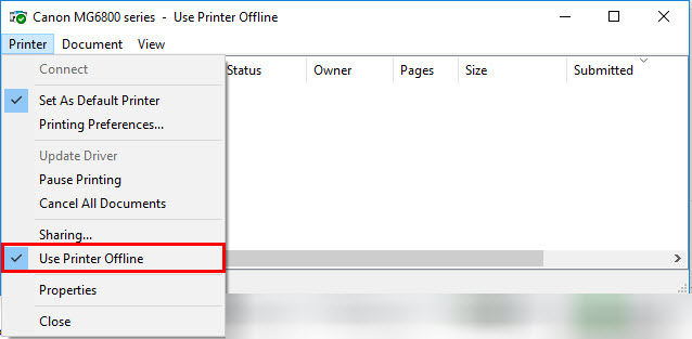 Canon Knowledge Base - Printer is offline (Wireless LAN) - MX712