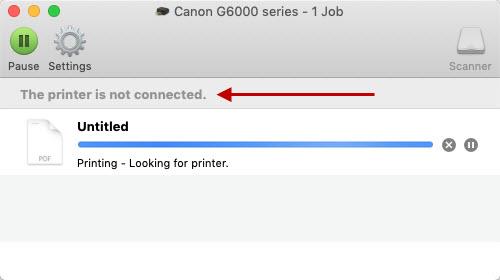 Canon Knowledge Base - Printer is offline (Wireless LAN