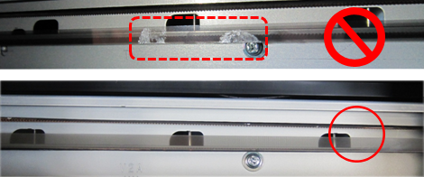 Wipe the Encoder Film until it becomes transparent and clear
