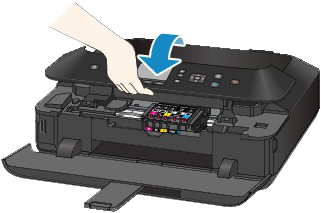 Printer image - how to close the operation panel