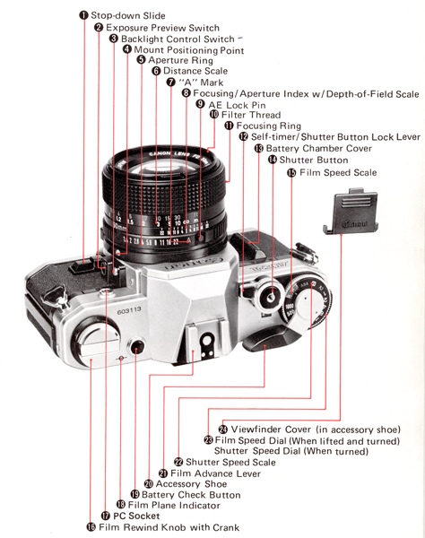 Canon Knowledge Base Ae 1 Here Is A List Of The Parts And