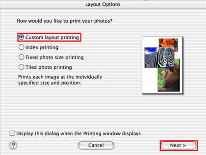 Canon Knowledge Base - How to print with custom layout using