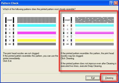 Clean The Print Head Nozzles Windows MP280 MP495 MP499