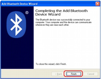 figure:Add Bluetooth Device Wizard (Complete)