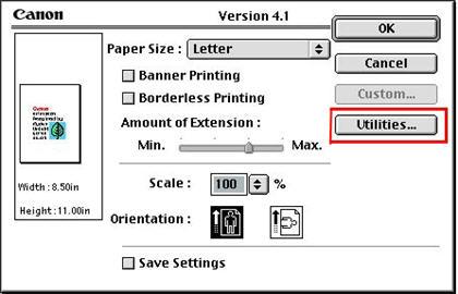 Canon Knowledge Base - Perform print head alignment (Mac OS8