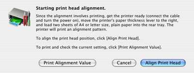Canon Knowledge Base - Perform print head alignment (Mac OS