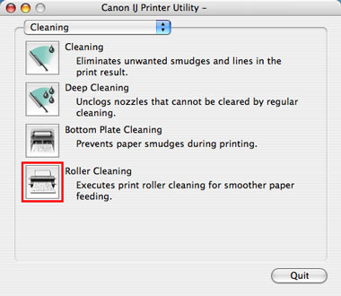 Canon Knowledge Base - Cleaning The Paper Feed Rollers (Mac