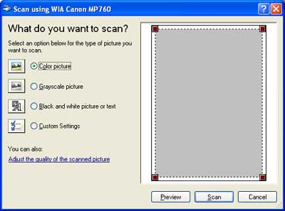 Canon Knowledge Base - Scan using the WIA driver