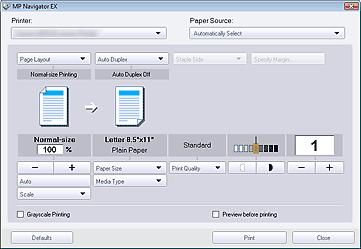 Canon Knowledge Base - Printing Documents - MP Navigator EX