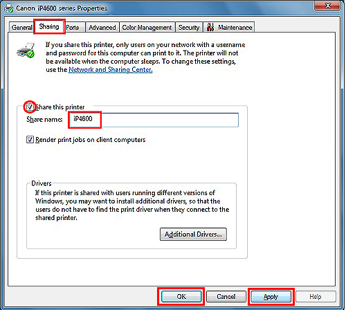 Canon Knowledge Base - Sharing the printer on Windows