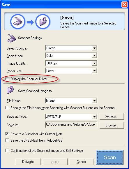 canon knowledge base reduce scanning size of pdf