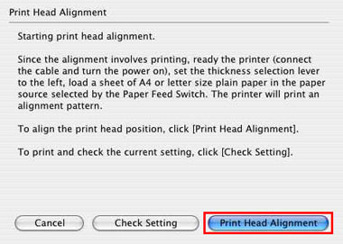 Canon Knowledge Base - Perform a Print Head Alignment (Mac