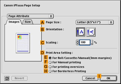 Canon Knowledge Base - Borderless printing (with actual size) MacOS9