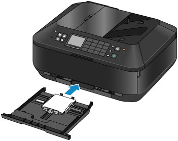 figure showing putting the upper tray into the printer