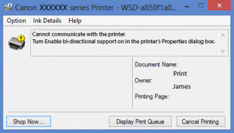Canon Knowledge Base - Troubleshoot error message 'Cannot
